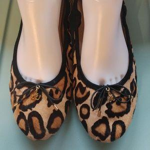 Sam Edelman Felicia Flats Leopard Calf Hair 10M